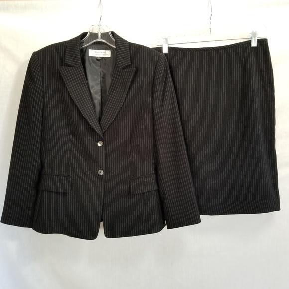 18ade50b45327 Tahari Skirts | Asl Skirt Suit Black White Pinstripe Sz 8 | Poshmark